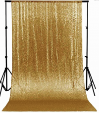 Gold Photo-booth Backdrop By Party Shakers LA