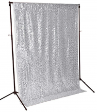 Silver Photo-booth Backdrop By Party Shakers LA